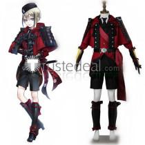 Touken Ranbu Hyuuga Masamune Red Cosplay Costume