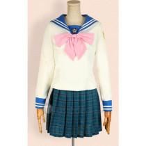 Danganronpa Trigger Happy Havoc Sayaka Maizono School Uniform Cosplay Costume