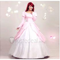 The Little Mermaid Disney Princess Ariel Pink Dress Cosplay Costume
