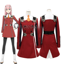 Darling in the Franxx Zero Two Code 002 Pilots Red Cosplay Costume