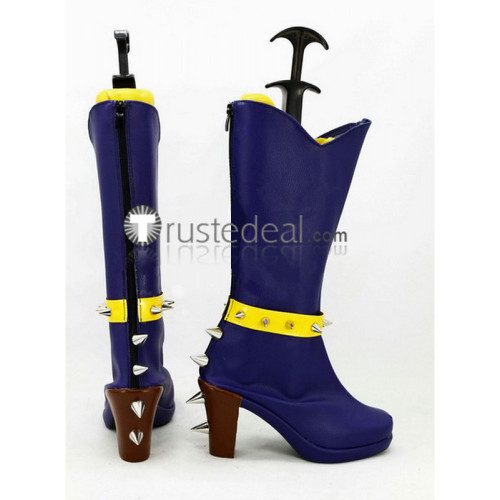 My Little Pony Equestria Girls Adagio Dazzle Deep Blue Cosplay Boots Shoes