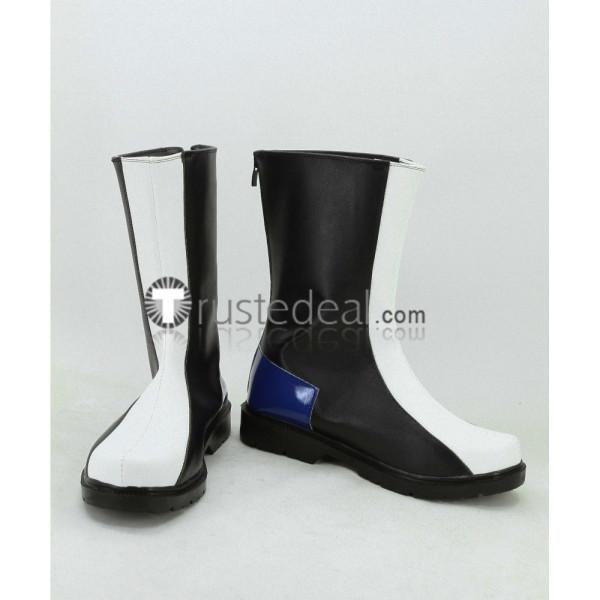 Mobile Suit Gundam Seed Kira Yamato Black White Cosplay Shoes Boots