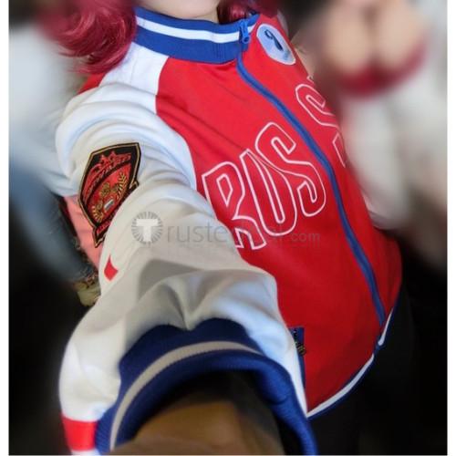 Yuri on Ice Mila Babicheva Red White Jacket Cosplay Costume