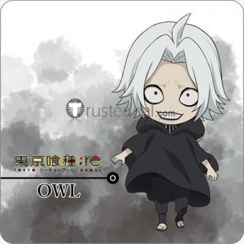 Tokyo Ghoul Re Season 3 Owl Takizawa Seidou Black Robe Cosplay Costume Wig