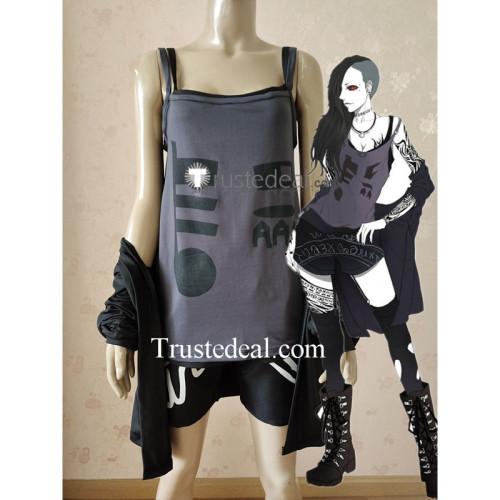 Tokyo Ghoul Uta Genderbend Female Girl Black Cosplay Costume