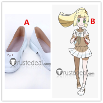 Pokemon Sun And Moon Lillie White Cosplay Shoes Boots