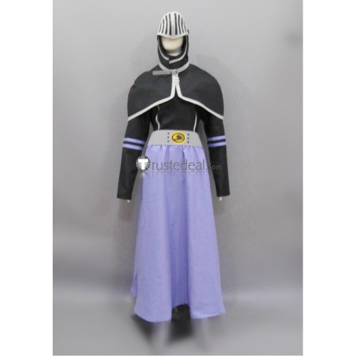 Fairy Tail Bickslow Black Purple Cosplay Costume 1