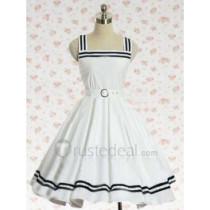 Cotton White Cotton Lolita Dress(CX171)