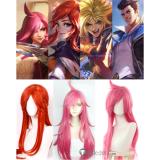League of Legends LOL New SKin Battle Academia Ezreal Lux Katarina Jayce Cosplay Wigs