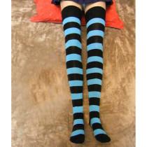 Panty & Stocking with Garterbelt Blue Black Stripe Stockings