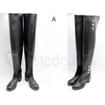 Seraph of the End Owari no Serafu Ferid Bathory Vampire Black Cosplay Boots Shoes