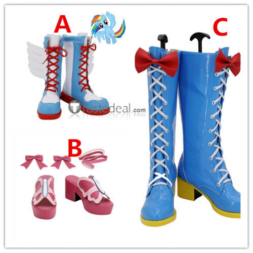 My Little Pony Friendship Is Magic Pinkie Pie Rainbow Dash Fluttershy Cosplay Shoes Boots
