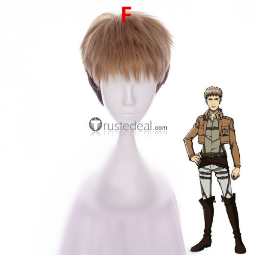 Attack on Titan Shingeki No Kyojin Eren Armin Jean Levi Erwin Black Brown Blonde Cosplay Wigs