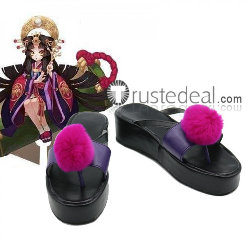 Onmyoji Kaguya Hime Black Cosplay Shoes