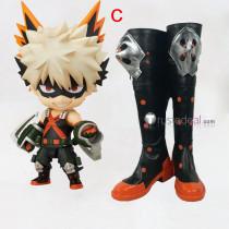 Boku no Hero Academia Katsuki Bakugo Black Red Cosplay Shoes Boots