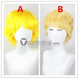 Mobile Suit Gundam Seed Char Aznable Blonde Yellow Cosplay Wigs