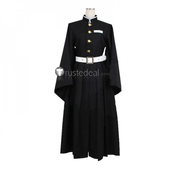 Kimetsu no Yaiba Demon Slayer Muichirou Tokitou Black Uniform Cosplay Costume