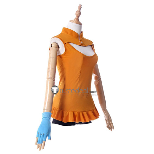 The Seven Deadly Sins Revival of The Commandments Season 2 Serpent's Sin of Envy Diane Orange Cosplay Costume