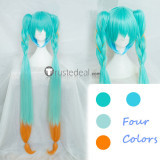 Vocaloid Trick or Miku Halloween Long Blue Cosplay Wig