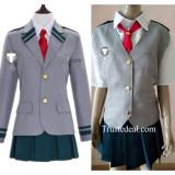 Boku no Hero Academia Asui Tsuyu Uraraka Ochako Nejire School Girls Uniform Cosplay Costumes