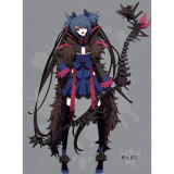 Pokemon Gijinka Hydreigon Cosplay Costume