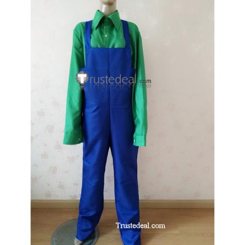 Monkey Island Wally B. Feed Cartographer Blue Green Cosplay Costume