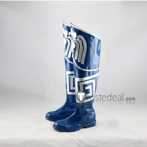 Mortal Kombat X Kitana Blue Cosplay Boots Shoes
