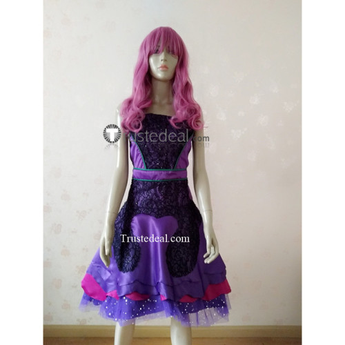 Descendants 2 Mal Cotillion Purple Dress Disney Cosplay Costume