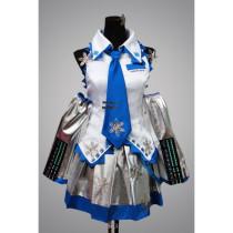 Vocaloid Snow Miku Hatsune Cosplay Costume
