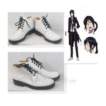 K Project Yatogami Kuroh White Cosplay Shoes Boots