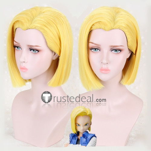 Dragon Ball Z Android 18 Yellow Blonde Cosplay Wig