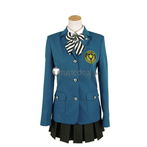 Persona 5 Hifumi Togo Kosei High School Uniform Blue Cosplay Costume