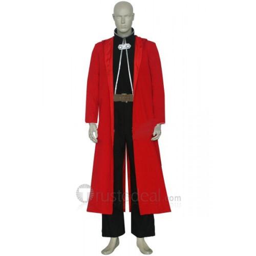 FullMetal Alchemist Edward Elric Red Coat Cosplay Costume