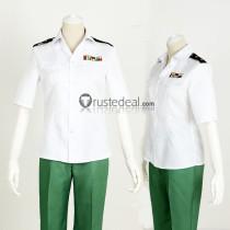 Hataraku Saibou Cells at Work Helper T Cell White Green Uniform Cosplay Costume