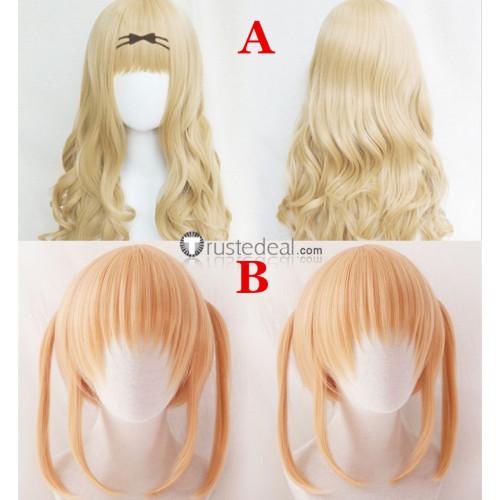 Shugo Chara Rima Mashiro Yaya Yuiki Long Blonde Cosplay Wigs