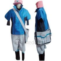 Pokemon Black and White 2 Nate Kyouhei Short Sleeves Cosplay Costume