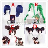 Genshin Impact Xinyan Scaramouche Balladeer Baizhu Brown Blue Green Cosplay Wigs