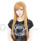 Sword Art Online Asuna Blonde Brown Cosplay Wig 1