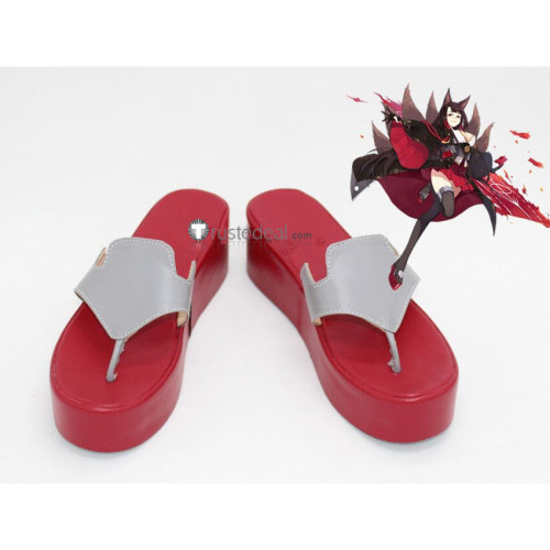 Azur Lane Akagi Cosplay Boots Shoes Sandals Geta