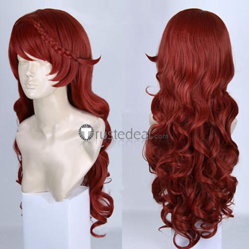 Uta no Prince-sama Shibuya Tomochika Red Curly Cosplay Wig