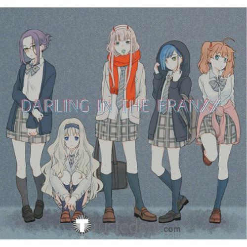 Darling in the Franxx Ichigo Zero Two School Uniform Cosplay Costume