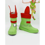 Mobile Suit Gundam ZZ Elpeo Ple Green Red Cosplay Shoes Boots