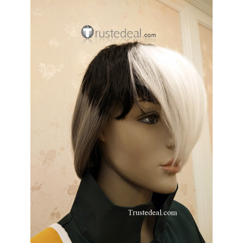 Voltron Legendary Defender Takashi Shiro Shirogane Black Gray White Cosplay Wig - Ready to Ship
