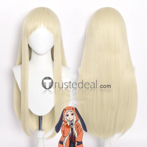 Kakegurui Gambler Runa Yomozuki Long Pale Blonde Cosplay Wig