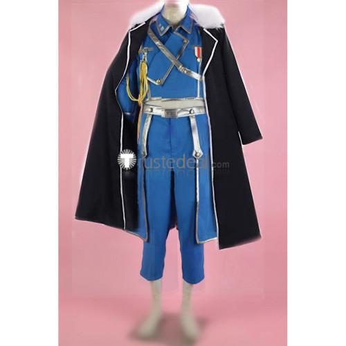 FullMetal Alchemist Olivier Mira Armstrong Military Uniform Black Overcoat Cosplay Costume