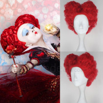 Alice Through the Looking Glass Red Queen Queen Of Hearts Red Cosplay Wig