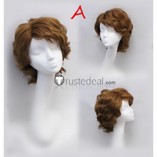 Star Wars Anakin Skywalker Kylo Ren Ben Solo Brown Blonde Black Curly Cosplay Wigs