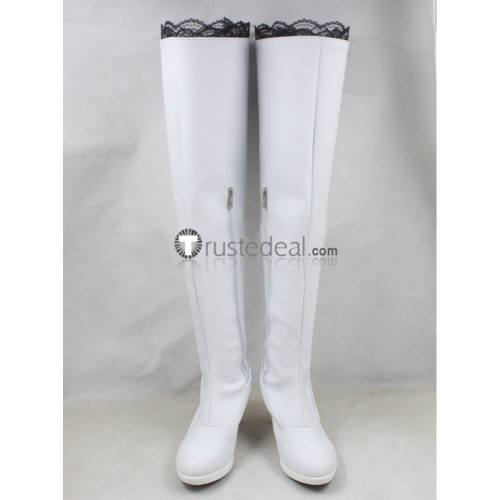 RWBY Season 2 Weiss Schnee White Cosplay Boots Shoes