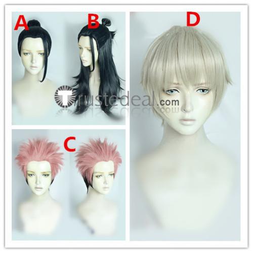 Jujutsu Kaisen Sorcery Fight Suguru Getou Sukuna Toge Inumaki Blue Pink Cosplay Wigs