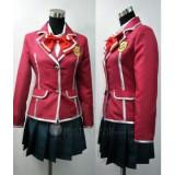 Guilty Crown YUZURIHA INORI Red  School Uniform Cosplay Costume